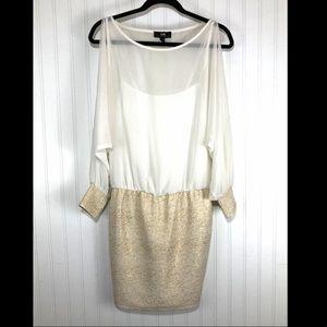I.N. Cold shoulder cocktail dress S